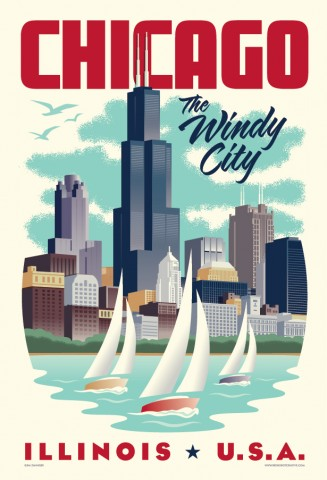 Chicago Travel Poster